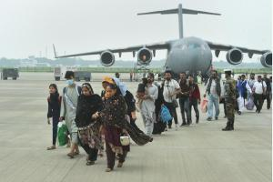 India evacuates 392 people including two Afghan lawmakers