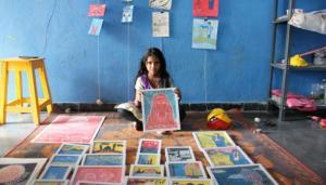 Inspired by Savitribai Phule Hyd teacher educates underprivileged kids with art
