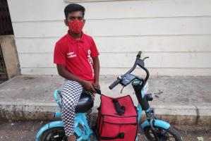 A bike rental company in Bengaluru is allowing many to sustain on delivery work
