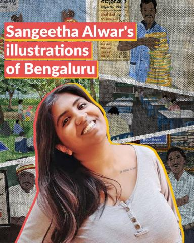 Coffee at Airlines, flowers at KR Market: This illustrator captures Bengaluru