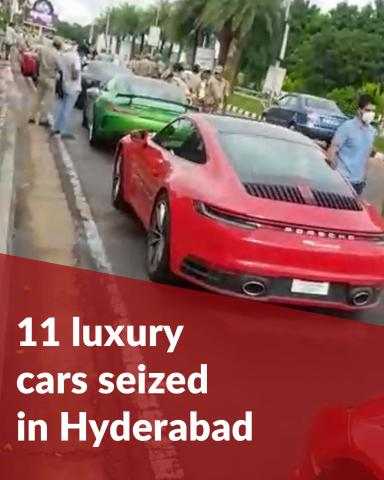 Hyderabad road transport officials seize 11 luxury cars for tax evasion