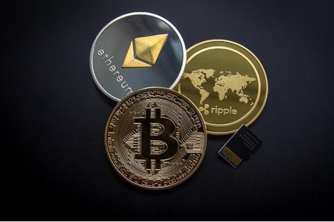 Bitcoin, Ethereum and Ripple cryptocurrencies