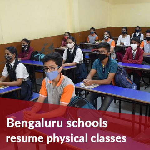 Bengaluru schools resume physical classes, over 90% attendance recorded