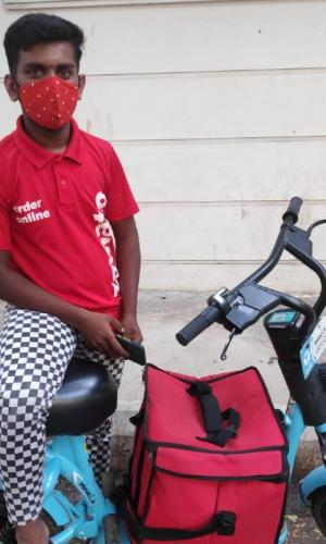 Chandovi is one of the many food delivery workers who uses these bikes