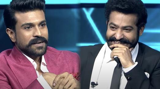 Watch: Ram Charan joins Jr NTR as the first guest in Evaru Meelo Koteeswarulu