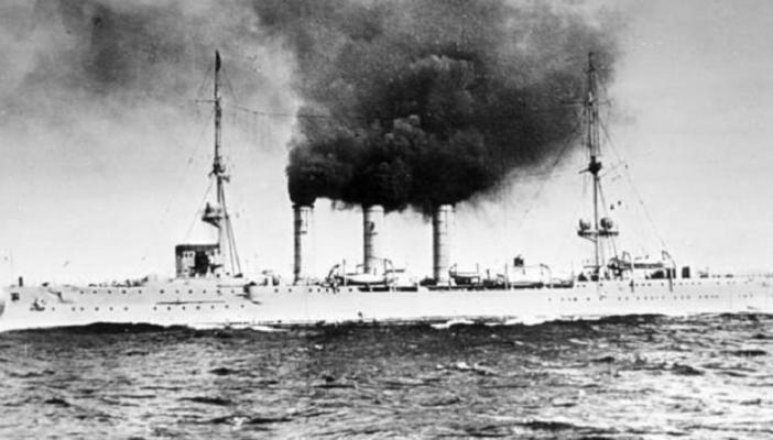 German ship SMS Emden which attacked Madras on September 22, 1914