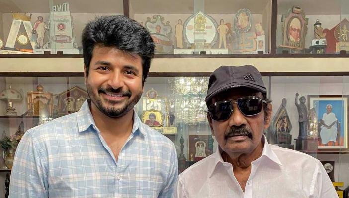 Actor Sivakarthikeyan alongside veteran actor Goundamani