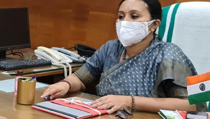 Veena George at her office